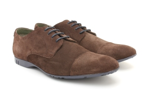 BASE LONDON PIANO SUEDE BROWN