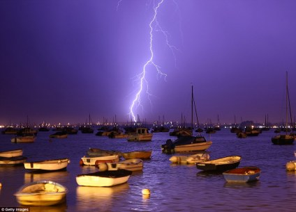 A glorious scene over Poole Harbour during a recent thunderstorm